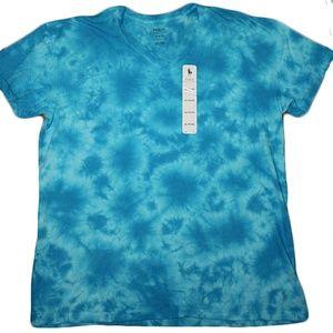 Polo Ralph Lauren Tie Dye Vneck Tshirt Size XL NWT